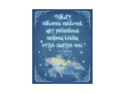 Nikdy nikomu nedovol, aby přistřihnul stříbrná křídla tvých zlatých snů - Sri Chinmoy